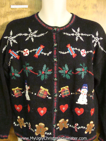 Funny 80s Busy Ugliest Christmas Sweater