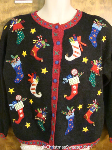 Horrible Pointy Stockings Ugliest Christmas Sweater