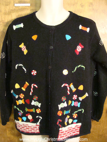 Candy Floating Funny Ugliest Christmas Sweater