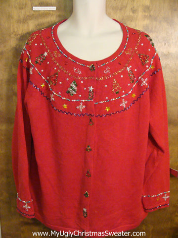 Big Size Bling Red Ugliest Christmas Sweater