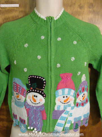 Child Size Green Funny Christmas Sweater