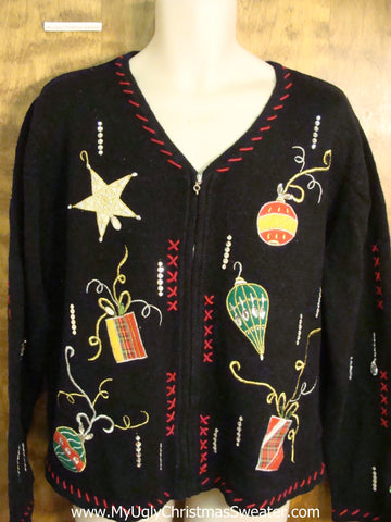 Ridiculous Ornaments 2sided Funny Christmas Sweater