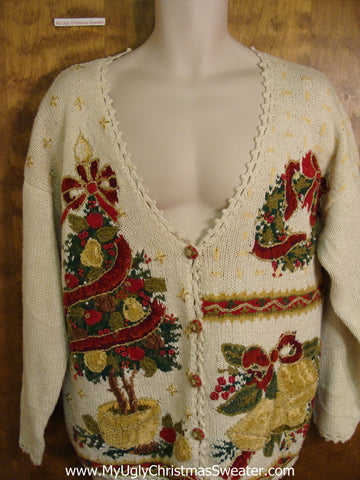 Horrible 80s Huge Tree Funny Christmas Sweater