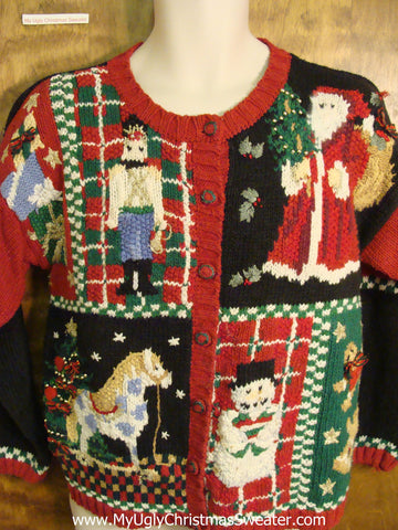 Horrilble Plaid Themed Funny Christmas Sweater