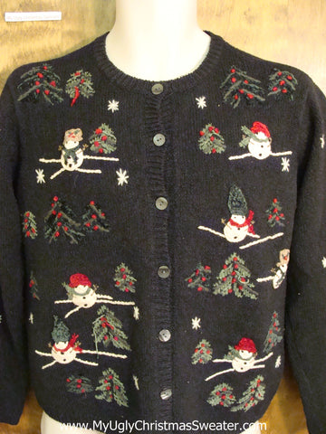 Cute Snowmen and Trees Funny Christmas Sweater