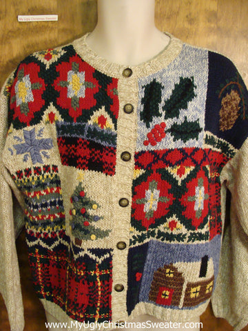 Patchwork Mind Numbing Mess Funny Christmas Sweater