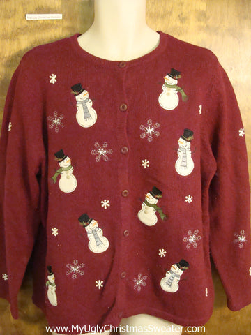 Snowman Convention 2sided Funny Christmas Sweater