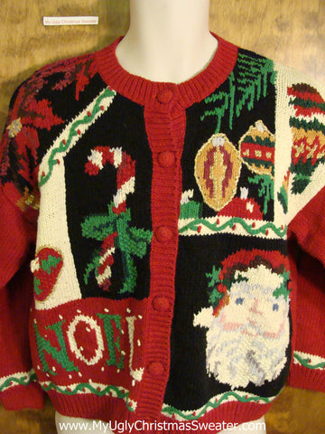 Busy NOEL and Candycane Funny Christmas Sweater