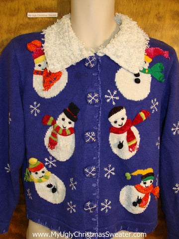 BEST 80s Furry Collar Funny Christmas Sweater