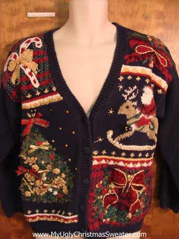 Mess of 80s Decorations Funny Christmas Sweater