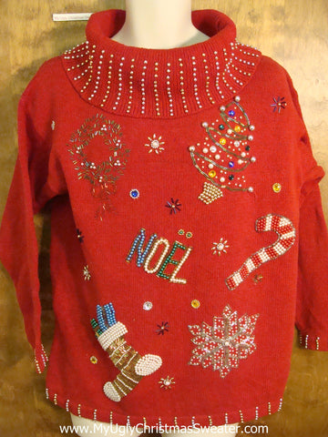 Bling NOEL 80s Funny Christmas Sweater