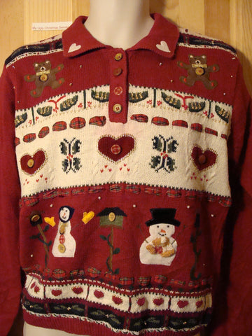 Tacky Ugly Christmas Sweater Crafty Gem (f439)
