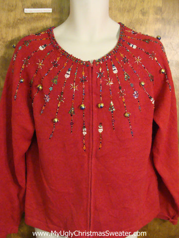 Bling Neckline Cheap Cute Xmas Sweater