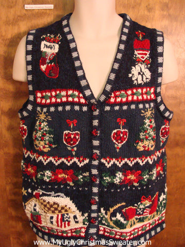 Crafty Busy Cute Xmas Sweater Vest