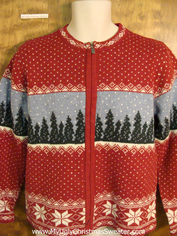 Vintage Style 2sided Woodsy Xmas Sweater