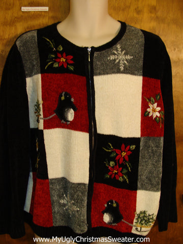 Either Penguins or Rats Cute Xmas Sweater