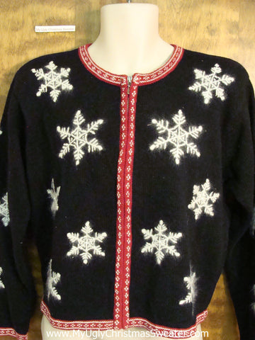 Cute 2sided Snowflakes Xmas Sweater