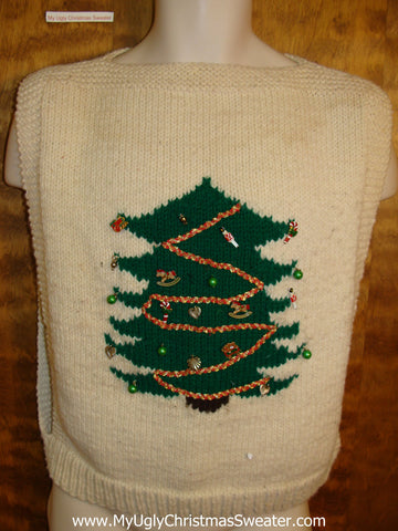 Retro Hipster Open Sides Christmas Sweater Vest