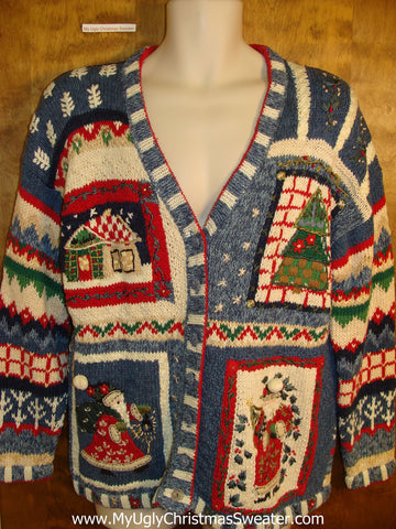 Horrible 2sided Mess 80s Bad Christmas Sweater