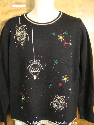 Cute Ornament Themed Holiday Sweater