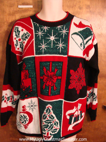 Cute Acrylic 80s Horrible Holiday Sweater