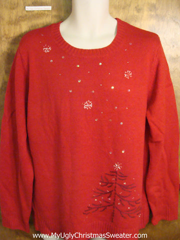 Cheap Red Cute Holiday Sweater