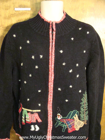 Strange Theme Cute Holiday Sweater Finding a Tree