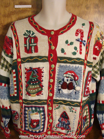 Horrible Mess of Decorations Cute Holiday Sweater