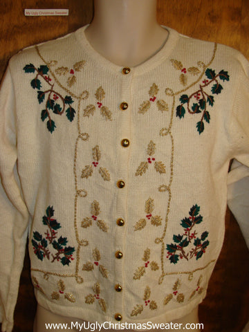 Cute Sprigs of Ivy Holiday Sweater