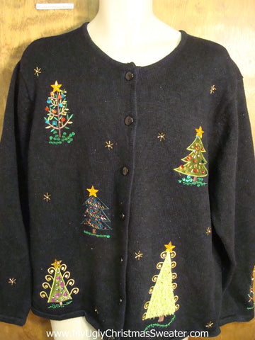 Crazy Trees Cute Holiday Sweater