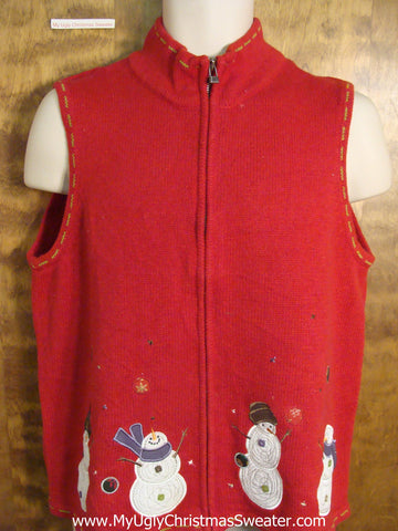 Cheap Red Ugly Christmas Sweater Vest
