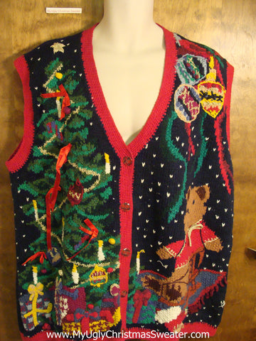 Awesome 80s Ugly Christmas Sweater Vest
