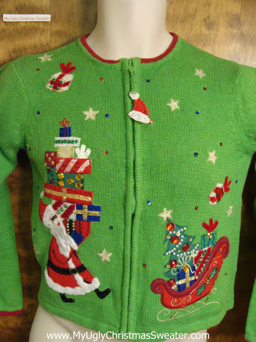 Child Size Green Ugly Christmas Sweater