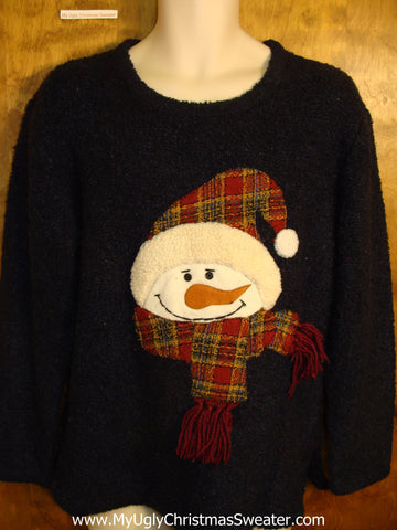 Ridiculous Carrot Nosed Snowman Ugly Christmas Sweater