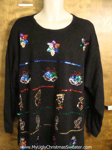 Fantastic 80s Bling Ugly Christmas Sweater 4xl 5xl