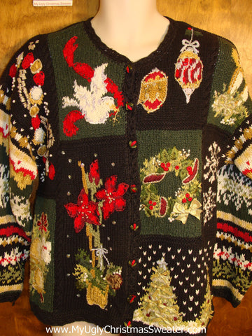 Worst Ornate Ugly Christmas Sweater