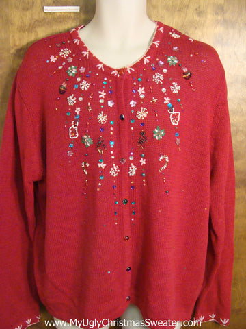 Fun Bling Snow Ugly Christmas Sweater