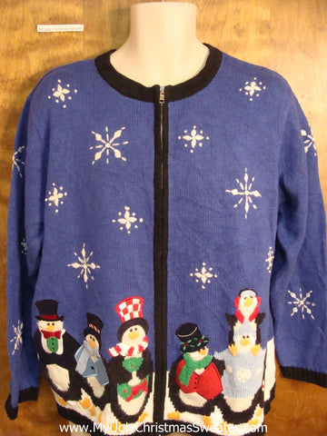 Penguin Party 2sided Ugly Christmas Sweater