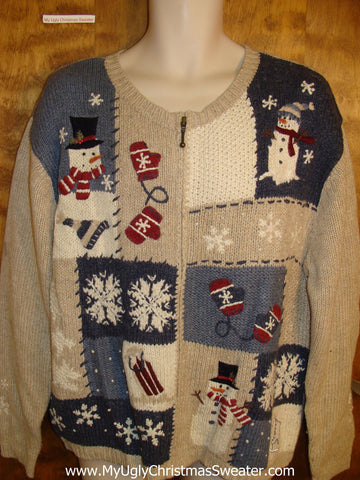 Cute 2sided Tan Ugly Christmas Sweater