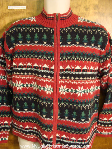 Ugly Red Nordic Style Christmas Sweater
