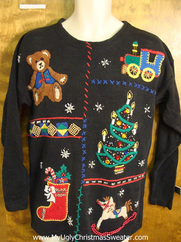 Toys and Bear Ugly Christmas Sweater