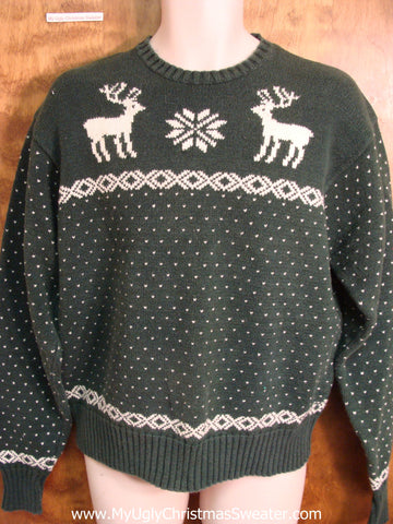 Classic Dueling Reindeer Polo Mens Christmas Sweater