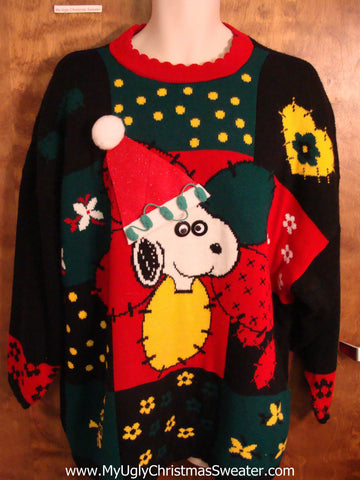 BEST Snoopy 80s Ugly Christmas Sweater