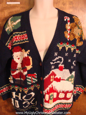 HoHo Santa 80s Ugly Christmas Sweater