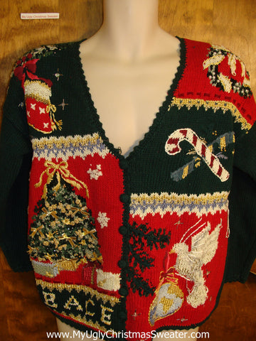 PEACE Themed Ugly Christmas Sweater