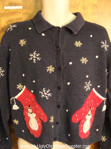 Mitten Pockets Ugly Christmas Sweater
