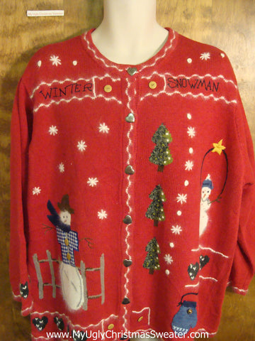 Fun Red XXXL Ugly Christmas Sweater