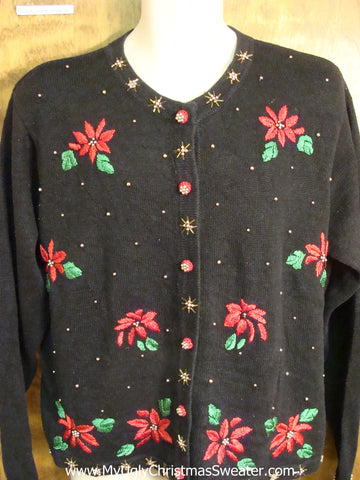 Cheap Black and Red Ugly Christmas Sweater