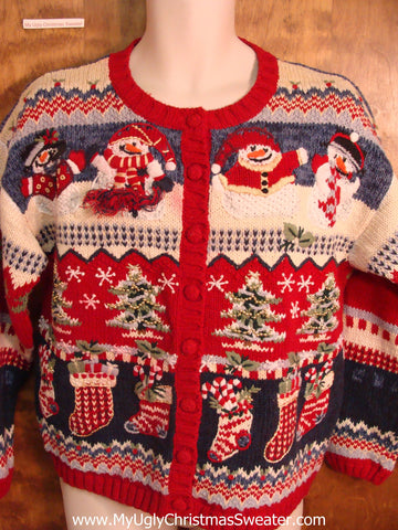 Red 2sided Horrible Ugly Christmas Sweater