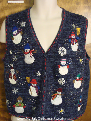 Snowman Convention Ugly Christmas Sweater Vest